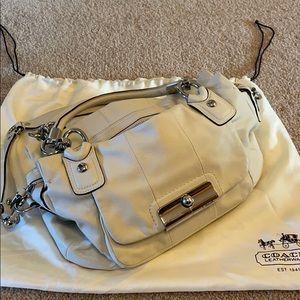 "Coach ""Kristin"" Leah satchel. Winter white Leather"
